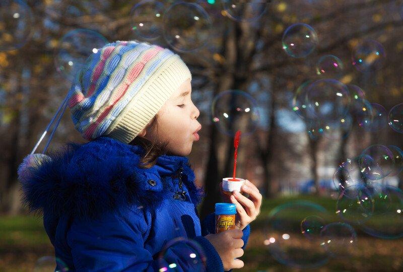 Bubbles at the park